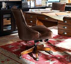 tufted office chair desk leather swivel