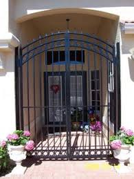 front door gateEntry  Courtyard Our house has a courtyard style design with