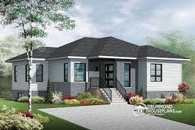 House plan W  V detail from DrummondHousePlans com    front   BASE MODEL bedroom Modern home plan   kitchen island and open floor plan