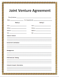 joint venture agreement templateReference Letters Words ...