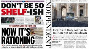 Sign up for free today! Italy S Soaring Virus Death Toll And Panic Buying In The Uk Dominate Headlines Itv News