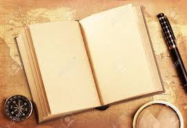 an old book on a trere map background stock photo 13542912