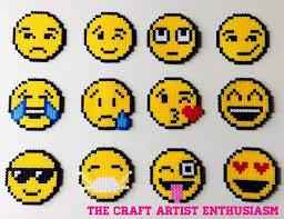 Emoji Perler Bead Patterns Adorable Emoji 😍 Perler Beads Key Chains Crafty Amino