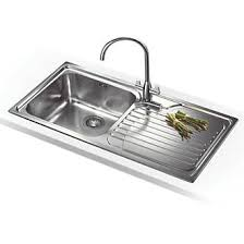 kitchen sink. Perfect Sink Franke Galassia Inset Kitchen Sink Stainless Steel 1 Bowl 1000 X 500mm   Sinks Screwfixcom Intended K