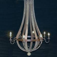 lighting woodland three light wine barrel chandelier in weathered bronze restoration hardware outdoor