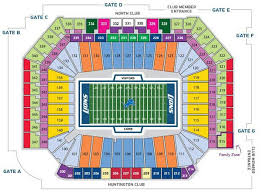Kid Rock Detroit Seating Chart 45 Surprising Ford Field Suites Chart