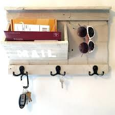 mail and key rack hanging mail organizer with key rack rustic entryway organizer mail key sunglasses