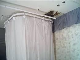 rv shower rod full size of furniture surprising camper shower curtain top under dinette about travel rv shower rod