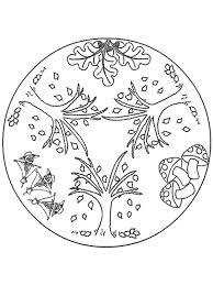 Mandala Herfst Herfst Kleurplaten Herbst Malvorlagen En