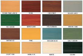 Sadolin Exterior Wood Stain Colour Chart Www