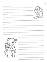 Lined Stationery Paper Awesome Lined Writing Paper Dinosaur LoveToTeachorg