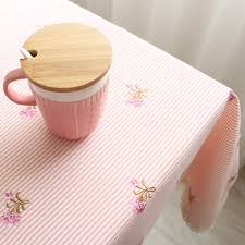 get ations three dimensional embroidery round tablecloth table cloth tablecloth table cloth refrigerator cover cloth korean pink