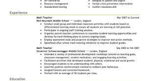 Resume The Best Resume Format For Teachers Resume Format 2016