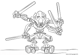 Small Picture lego general grievous Coloring pages Printable
