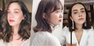 รวมทรงผมสนประบา Lob Hair มาแรงป 2019 Wongnai