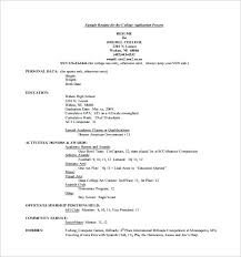 Resume Templates For College Applications Resume Template For ...
