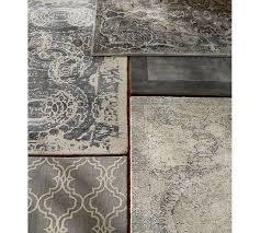 pottery barn 8 x10 nolan gray persian style handmade woolen rug