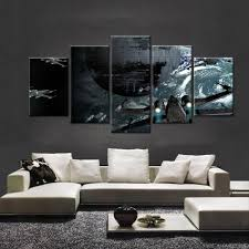 death star canvas wall art