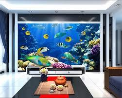 Aquarium Mural Design Us 15 95 48 Off Custom Photo 3d Wallpaper Fish Coral Aquarium At The Bottom Of Sea Decoration Painting 3d Wall Murals Wallpaper For Walls 3 D In
