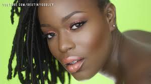 full face dark skin summer makeup