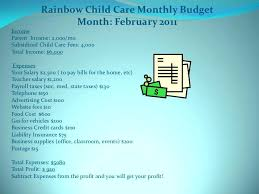 Child Care Budget Template Child Care Spreadsheet Budget Daycare Template For Kids Literals