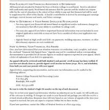 Scholarship Essay Examples Financial Need How To Write Appeal Letter For Financial Aid Fresh Financial Need