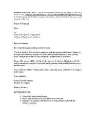Brilliant Ideas Of Sample Business Letter For Indian Visa