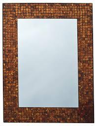lulu decor amber rectangle mosaic wall mirror decorative handmade beveled mirror perfect for housewarming gift