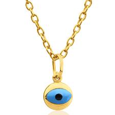 9ct yellow gold evil eye pendant 10253020 jewellery shiels