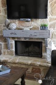 rustic diy mantel