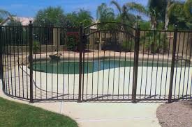 Decorative Pool Fence Wrought Iron Pool Safety Fence Examples Sun King Fencing