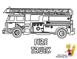 Dessin De Coloriage Camion Pompier Imprimer Cp05462