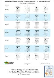 Banjo Capo Chart 5 String Banjo Chords And Keys For Double C Tunings G C G