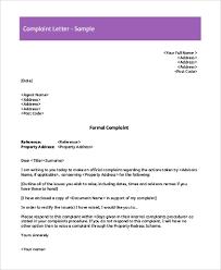Complaints Letter Format Free 8 Sample Complaint Letters In Pdf Word