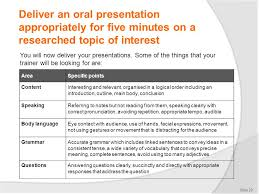 deliver a short oral presentation in english ppt video online  deliver an oral presentation appropriately for five minutes on a researched topic of interest
