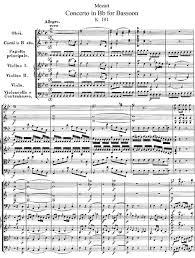 bassoon sheet music bassoon concerto in b flat major k 191 mozart wolfgang amadeus