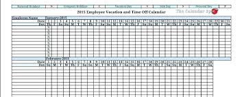 Employee Vacation Tracker Excel Spreadsheet Template Large