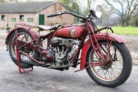 indian scout 101 from 1929 750cc in original paint