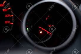 Flue Light The Car Dashboard Shows The Flue Gas With Red The Oil Warning
