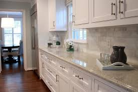 lovely unique carrara marble subway tile backsplash kashmir white granite kitchen transitional with glass front