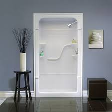 amazing acrylic shower stalls in mirolin madison 60 inch 3 piece stall with seat the