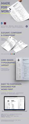 light resume made for word by wrdmx graphicriver light resume made for word resumes stationery