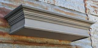 image 0 crown molding fireplace mantel gray wooden wall shelf