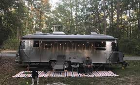 van tramp airstream rv outdoor rug