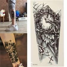Dočasné Tetování Retro Hodiny Poštovnézdarmacz