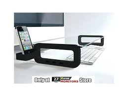 glass monitor smart tempered glass monitor stand shelf for your and glass monitor riser stand