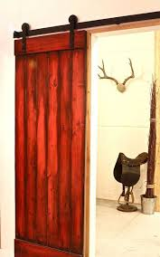 red sliding barn door. Red Wood Sliding Barn Door