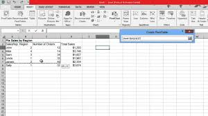 How To Create Pivot Table In Excel 2013