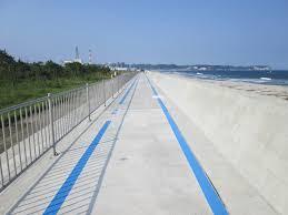 防波堤を活用したサイクリングロード、いわき七浜海道が部分開通したようです。