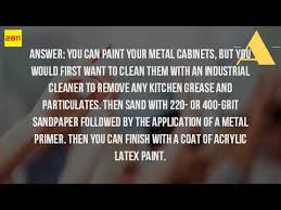 what kind of paint to use on kitchen cabinetsWhat Kind Of Paint To Use On Metal Kitchen Cabinets  YouTube